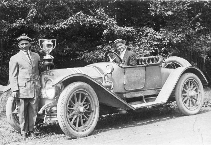 1920's New York Gentlemen with an Automobile