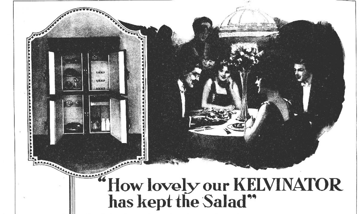 Kelvinator Fridge 1920 newspaper ad
