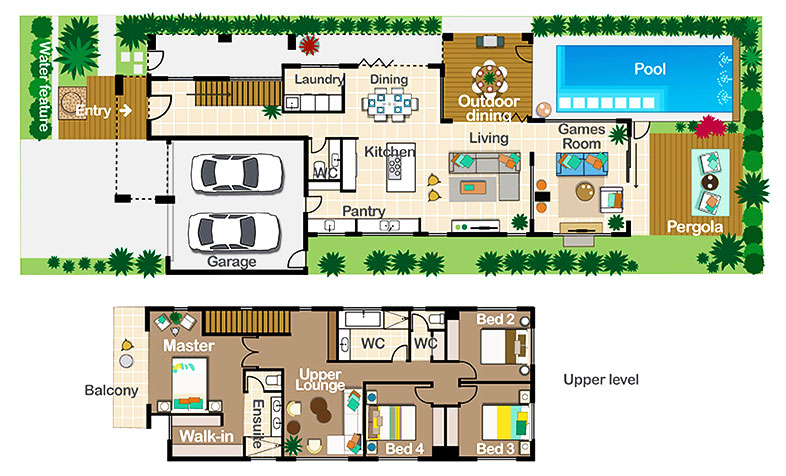 Floor plan of prize home in Mountain Creek