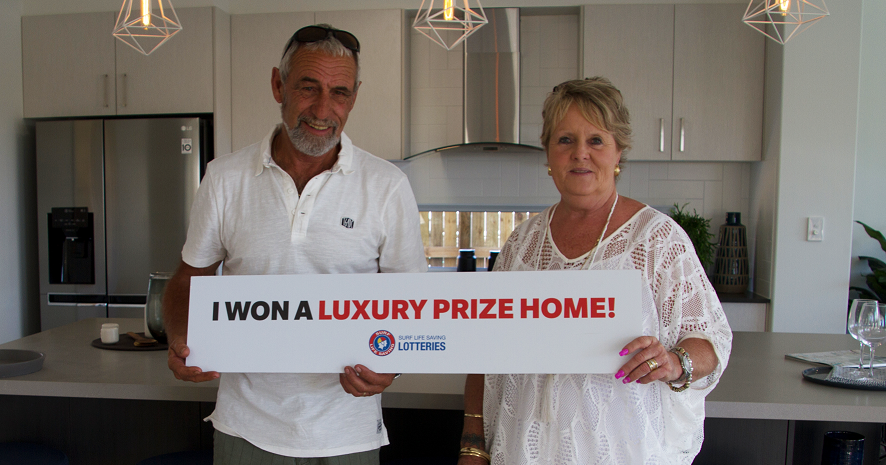 Prize home winners of Surf Life Savings Lotteries prize home draw 182.