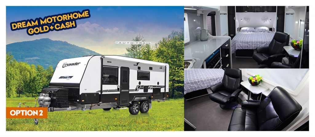 Option 2: Win a luxury motorhome, gold bullion and cash!