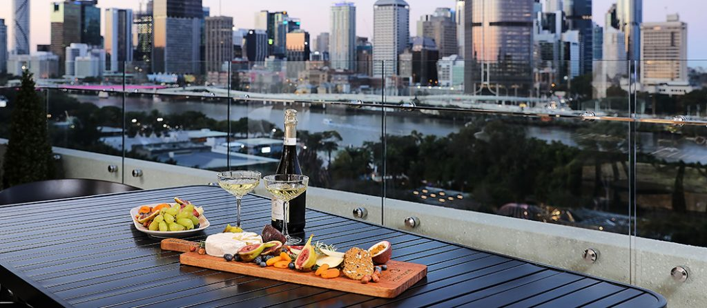 Entertainers balcony gives you the best view of the Brisbane city skyline.
