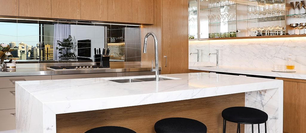 Modern kitchen and appliances from Gaggenau.