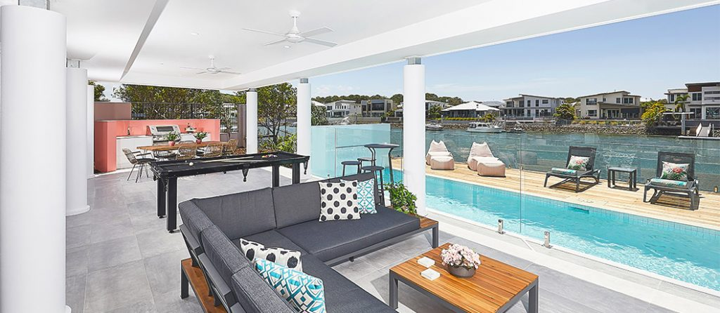 Alfresco dining & entertainment area, with BBQ and pool.