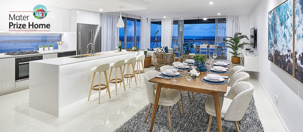 Enjoy open plan living and dining.